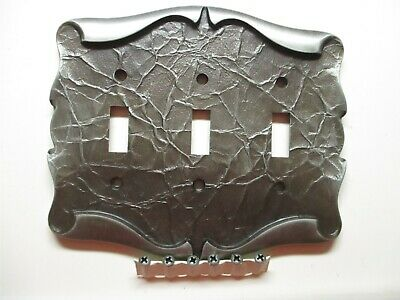 Amerock Carriage House 3 Gang Switch Wall Plate Cover Antique Silver Parchment