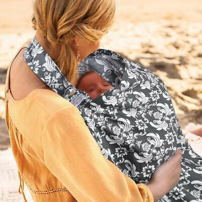 UHINOOS Nursing Cover, Infinity Soft Breastfeeding Cotton for Babies-Color Grey