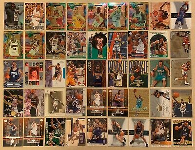 NBA Basketball Card All Star Hall Of Fame 45 Card Lot Rookie Cards Must See!!