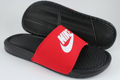 Nike Benassi Jdi Black/White/Red Sport Sandals Slides Swoosh Us Mens Sizes