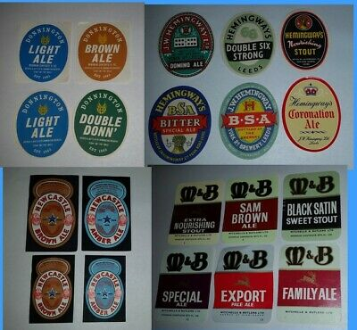 Bulk lot  20 x brewery beer different bottle labels Ales & Stouts