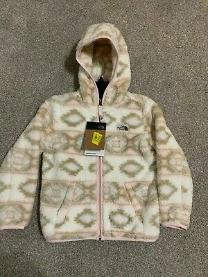 THE NORTH FACE Toddler Girls Fleece CAMPSHIRE Pink/White tan Hooded Jacket 3t 6