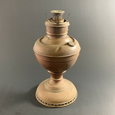 """ANTIQUE c.1890 MILLER LAMP Co. UNITED STATES OF AMERICAN LARGE 12"""" OIL LAMP"""