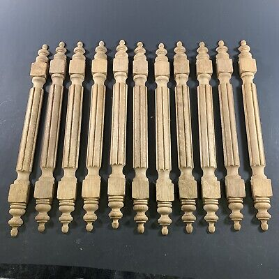 Lot X11 Antique Lathe Turned Wooden Decorative Half Spindles Furniture Mantles