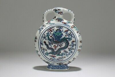 A Chinese Dragon-decorating Estate Duo-handled Porcelain Vase