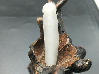 100% Delicate Chinese natural Hand-carved Myanmar Jadeite pendant hairpin
