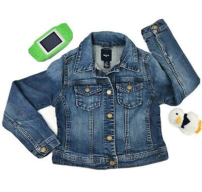GAP KIDS Girls Size Small 6 Jean Denim Jacket, Great Condition Snap Up 4 Pockets