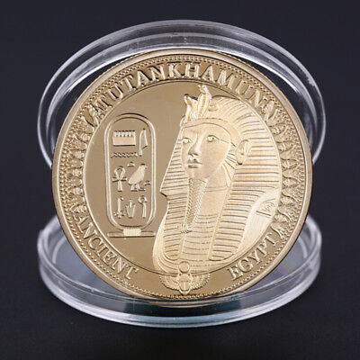 Gold Plated Coins Ancient Egypt Sphinx Coins  for Collection Gift Challenge CoBX