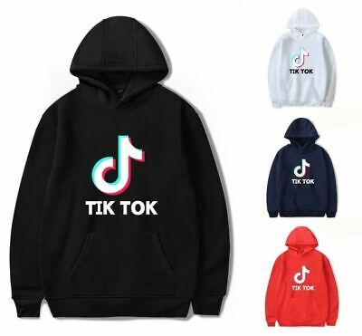 Fashion Womens Mens Tik Tok Printed Adults Hooded Hoodies Sweatshirt Jumper Tops