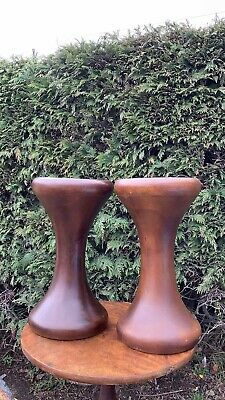 A Fantastic Vintage Pair of Wooden Turned Hourglass Stools **
