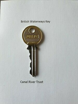 Cut by Locksmiths 5 x British Waterways Key-BWB River Key-CRT Key-Canal Key
