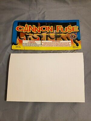 20 Foot Cannon Fuse Model Rockets Cannons Fireworks Hobby Fuse Waterproof Label