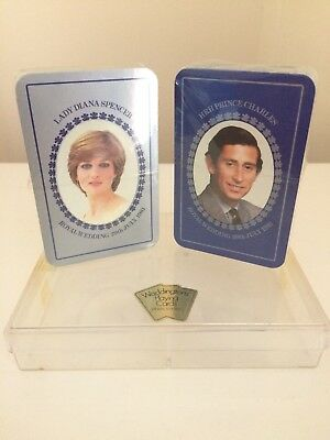 WORSHIPFUL1981 PLAYING CARDS  2x  SINGLE CARDS THE ROYAL WEDDING CHARLES /& DIANA