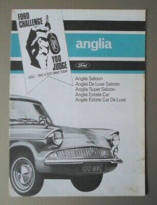 FORD ANGLIA 105E orig 1964 UK Mkt Sales Brochure - De Luxe Super Estate Car