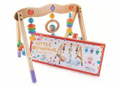 Wooden Baby Teething Toys Foldable for Kids Good Activity Gym Ages 0-8 Months