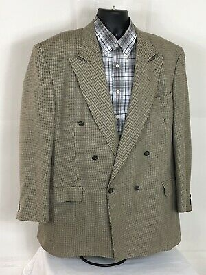 Gianfranco Ruffini Mens  SZ 48L Beige Hatch Silk Blend  Blazer Sport Coat Jacket