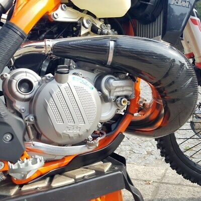 Extreme Carbon Exhaust Protector Ktm 250-30 Exc  Tpi  2017-20