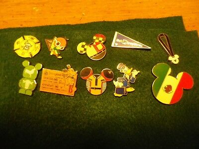 Disney Pin Lot 10 No Duplicates Trade or Keep  FREE US Shipping  FREE SHIP   102