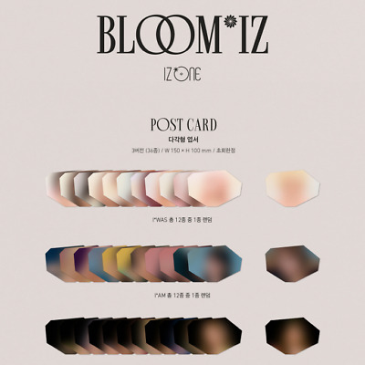 IZ*ONE 1st Album BLOOM*IZ Official Post Card