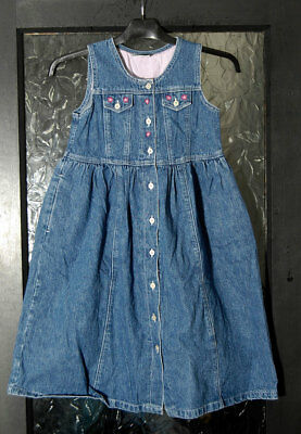 New without Tags Girls Denim Pinafore Skirt by Ladybird - Age 6-7 yrs