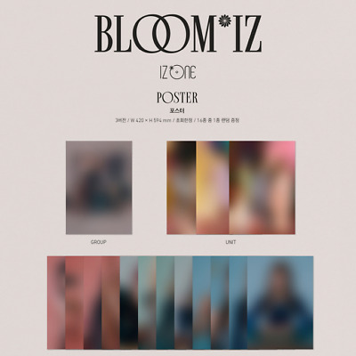 IZ*ONE 1st Album BLOOM*IZ Official Unfolded Bromide Poster + Tube Case