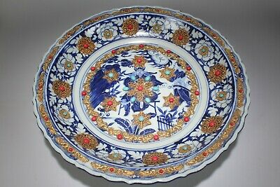 An Estate Chinese Flower-blossom Story-telling Blue and White Porcelain Plate