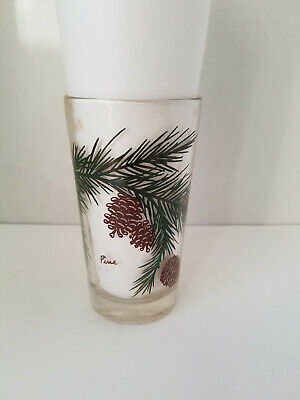 Vintage Peanut Butter Glass Pine (only) - name in brown