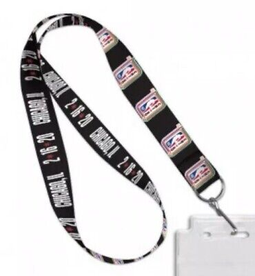 NEW 2020 NBA All-Star Game Official Black Lanyard Chicago KOBE 2/16/20