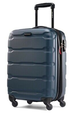 New Samsonite Omni Expandable Hardside Carry on Luggage with Spinner -Teal Color