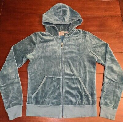 JUICY COUTURE Green Velour Track Suit Women's Large L Jacket Top