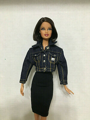 Barbie Doll My Scene Strapless Denim Jeans Dress With Faux Leather Belt Rare