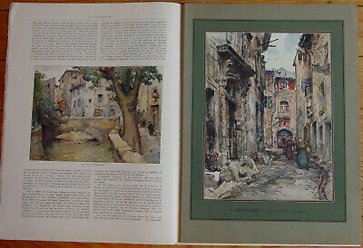 L'illustration 4254 Du 13/9/1924 Avignon Aquarelles Montagne Societe Des Nations