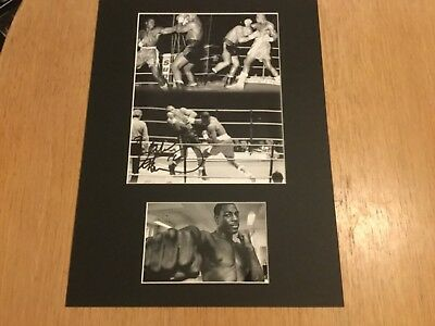 FRANK BRUNO 16x12 BOXING LEGEND MOUNTED MONTAGE COA FREE P&P