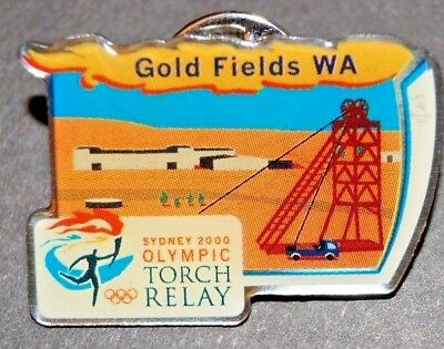 Olympic Games  - Sydney - 2000 - Torch Relay - Goldfields WA Pin / Badge