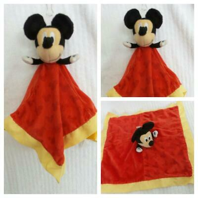Mickey Mouse LOVEY Security Baby Blanket 14'' Plush + Crinkle Ears Disney Baby