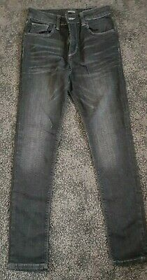 Boys River Island Black Skinny Jeans Age 10 Years
