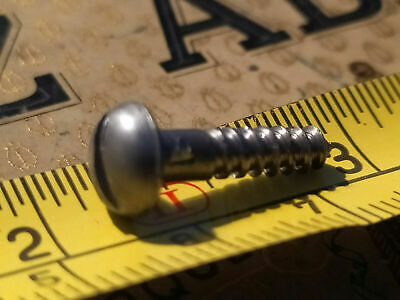 8 x 1 OLD MINI IRON SLOTTED ANTIQUE WOOD SCREWS FOR MODELERS CAFE RACER FRAMES