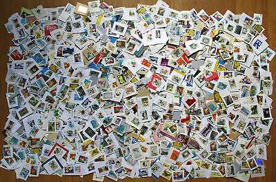 Finnish EURO stamps 100+ pcs lot of kiloware clippings, used, on paper, € only