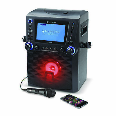 """Singing Machine Bluetooth Karaoke System Microphone and 7"""" Color Monitor, CG+G"""