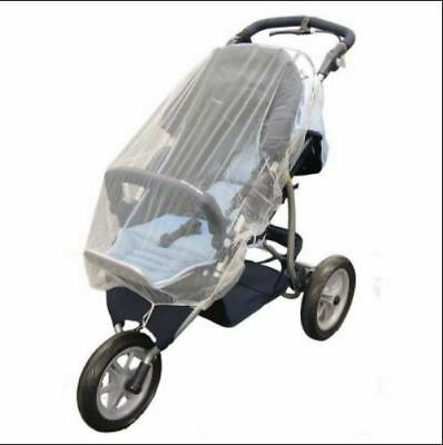 NEW White Mosquito Net Mesh Cover for Baby Child Bassinet Stroller Thule jogger