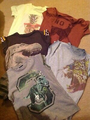 5 X Boys T-Shirts From Next Age 8