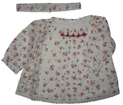 Age 3 A Girls Romany Spanish Style Traditional Smocked Vintage Floral Dress 0