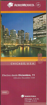 Buy 4 Aeromexico system timetable 7//5//92 5023 save 25/%