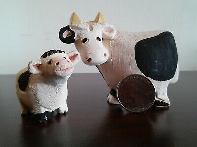 """Design Toscano 12/"""" Mother Cow and Calf Indoor Or Outdoor Hand Painted Statue"""