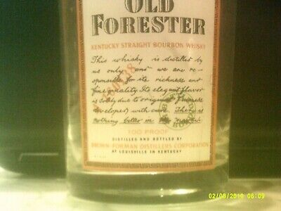 Old Forester Kentucky Straight Bourbon Whiskey Glass