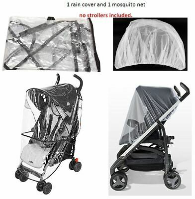 Rain Cover Mosquito Net Set Cover Protector for Phil & Teds Baby Kids Strollers