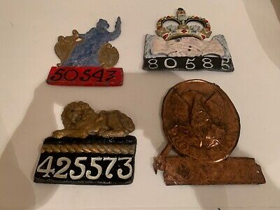 Insurance fire plaques antique