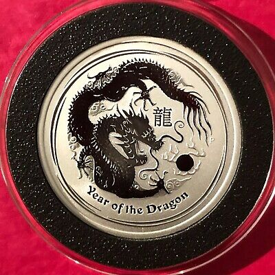 2012 Year Of The Dragon Lunar Series 1/2 Troy Oz .999 Fine Silver Round Coin 999