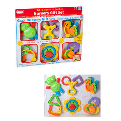 Funtime Nursery Gift Set Of 6 Baby Rattles And Teethers