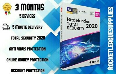 Bitdefender Total Security 2020/2019 3 Month 5 Devices 90 Days Activation Code
